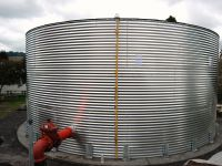 Corrugated Rain Harvesting Tanks - Flat Roof