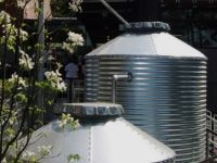 Corrugated Rain Harvesting Tanks - Flat Seam Roof