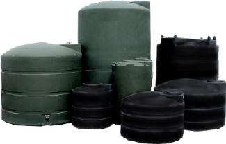 Green Plastic Water Tanks